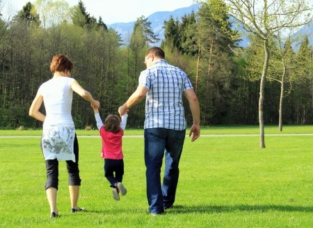 family-walking-together